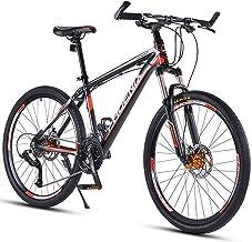 BQSWYD Bicicleta de Montaña para Adultos de 27,5 Pulgadas Bicicleta de Montaña para Todo Terreno de 30 Velocidades con Horquilla de Suspensión Bicicleta de Montaña, Bicicletas de Aleación de Aluminio