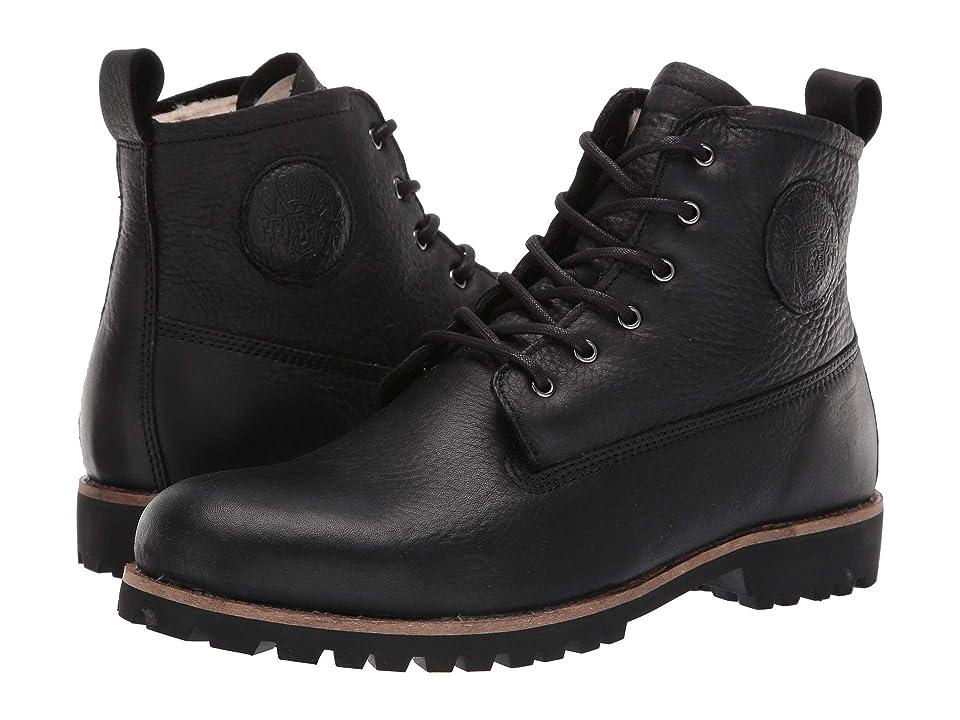 Blackstone Lug Sole Sheepskin Boot OM60 (Black) Men