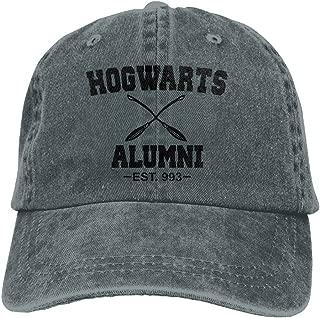 Huayaa Hat Hogwarts Alumni Denim Skull Cap Cowboy Cowgirl Sport Hats For Men Women