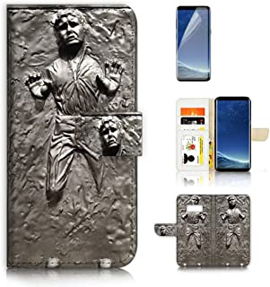 ( For Samsung S8 , Galaxy S8 ) Flip Wallet Case Cover & Screen Protector Bundle - A8555 Starwars Han Solo in Carbonite