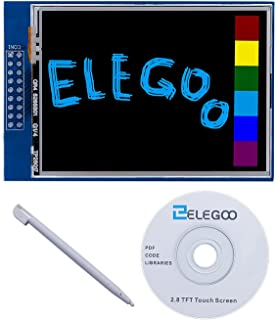 ELEGOO UNO R3 2.8 Inches TFT Touch Screen with SD Card Socket w/All Technical Data in CD for Arduino UNO R3
