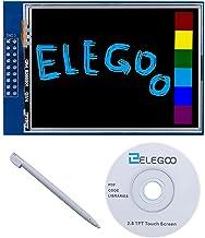 ELEGOO Pantalla Táctil TFT de 2,8 Pulgadas con Tarjeta SD con Todos Los Datos Técnicos en CD Compatible con Arduino UNO R3 Placa