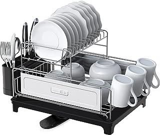 SHAN ZU Égouttoir à Vaisselle Cuisine à 2 Niveaux en Acier Inoxydable 304, Support à Vaisselle Détachable de Grande Capaci...
