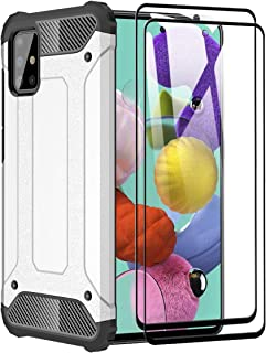 FANFO® fodral för Samsung Galaxy A51 5G [Heavy Duty] rustning, tufft hårt skyddande stötsäkert dubbelskikt rustning anti-s...