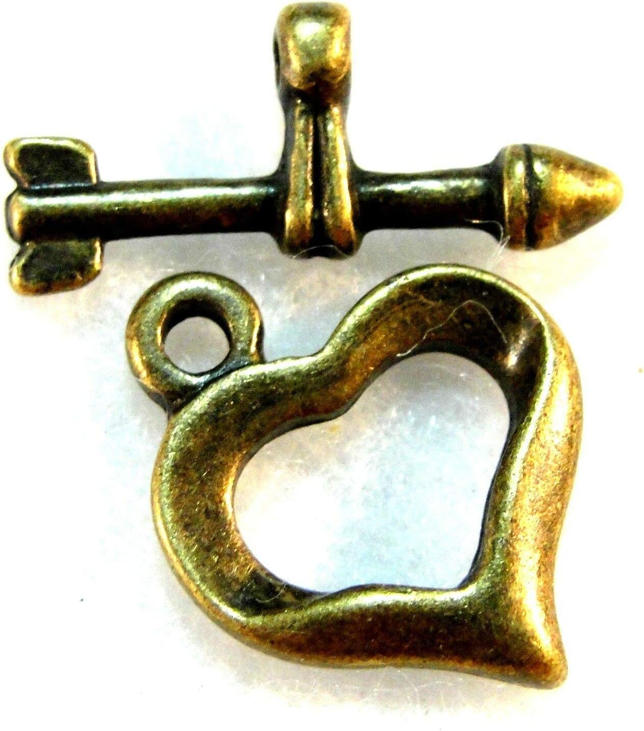 10-Sets Antique Bronze Heart and Findi Outstanding Arrow Toggle Hooks Clasps Ultra-Cheap Deals