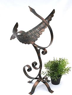 dekorative Gartenuhr für  Terrasse und Garten Weiß Sonnenuhr aus Eisen