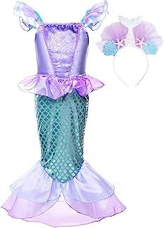 Niñas Princesa Sirena Vestido Navidad Traje Fiesta Cumpleaños Disfraz