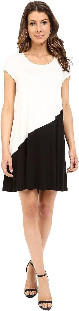 Color Block Maggie Trapeze Dress