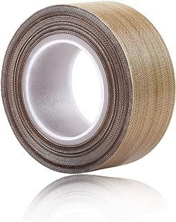 PTFE Coated Fiberglass Telfon Tape,high Temperature Tape;Drying Mechanical Conveyor Belt; Welding Sealing Tape; -196℃ - +300℃ … (Brown, 25mm x 12yards x 0.18mm)