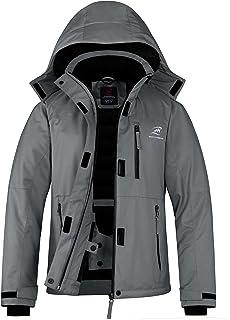 SAHRKMOUTH Women's Skiing Jackets, Waterproof & Windproof Winter Snow Coat Warm Hooded Raincoat Snowboarding Jacket