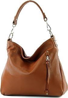 modamoda de T183 - ital. Damen Schultertasche aus Leder