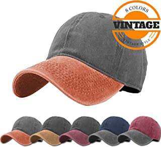 Unisex Vintage Washed Distressed Baseball-Cap Twill Adjustable Dad-Hat 70ee5dc19db8
