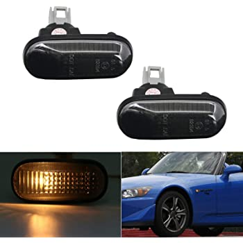 1 pair OZ-LAMPE Side Marker Turn Signal Lights LED Direction Indicator Lights Smoke for Hond-a Accord Coupe CG2 CG3 CG4 Civic EG3 EG4 EG5 EG6 EG8 EG9 EH9 EJ1 EJ2 S2000 AP1 AP2 Acur-a