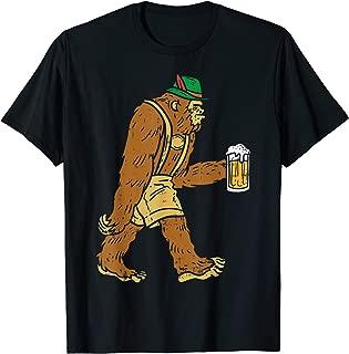 German Bigfoot Sasquatch Beer Lederhose Funny Oktoberfest T-Shirt