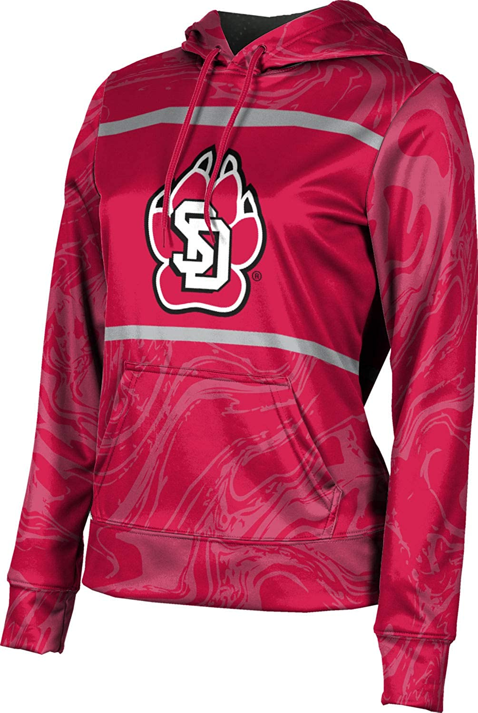 University of South Dakota Girls' Pullover Hoodie, School Spirit Sweatshirt (Ripple)