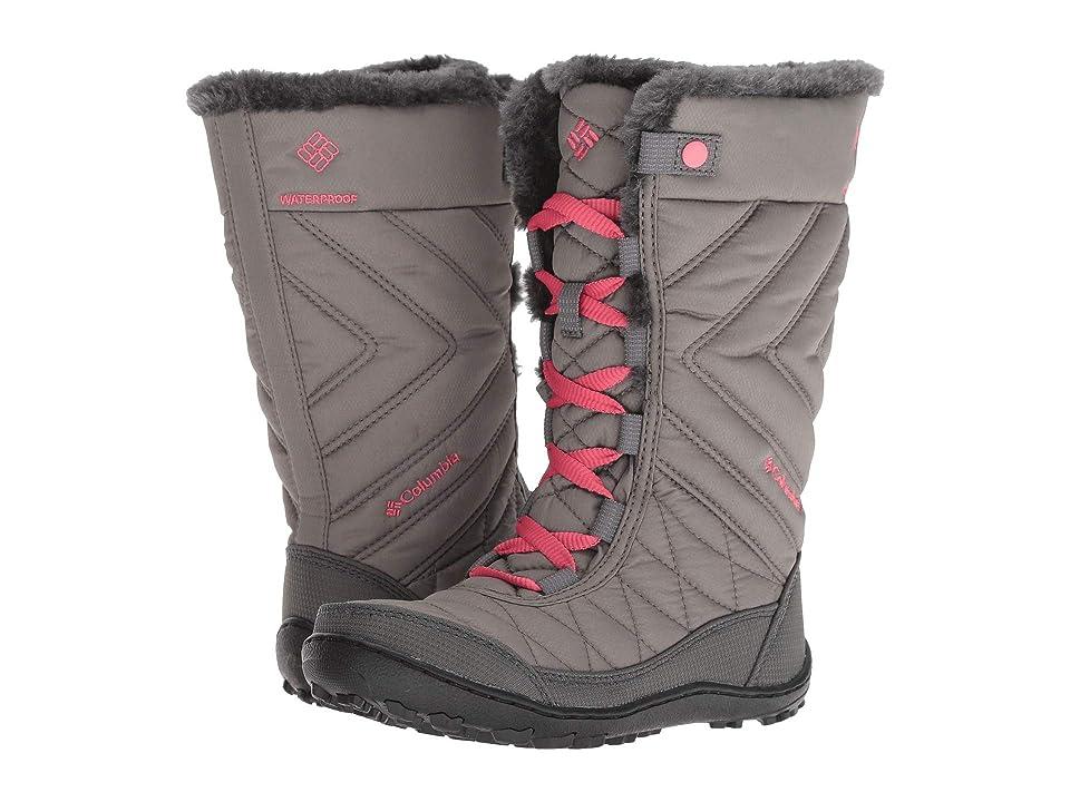 Columbia Kids Minxtm Mid III Waterproof Omni-Heattm (Little Kid/Big Kid) (Stratus/Camellia Rose) Girls Shoes