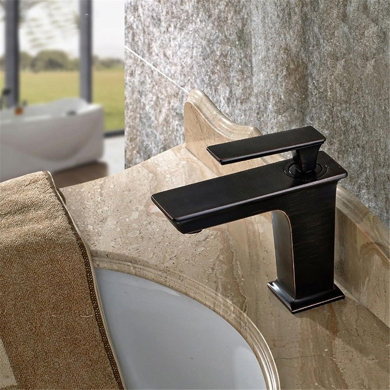 Hlluya Professional Sink Mixer Tap Kitchen Faucet Black single hole faucet bronze basin-wide water taps quartet mixing faucet, low