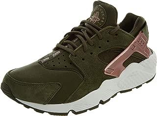 Women's Air Huarache Run Low-Top Sneakers ( Green/Pink / 100 )