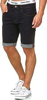 Caballero Caden Pantalones Cortos Vaqueros con 5 Bolsillos de 98 % algodón | Denim Stretch Pantalón Used Look Washed Destroyed Regular Fit De Tiempo Libre para Hombres