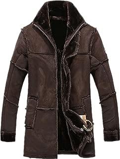 Men's Vintage Sheepskin Jacket Fur Leather Jacket Cashmere Shearling Coat