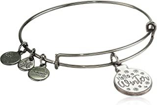 Alex and Ani Hello Winter Ornament EWB Bangle Bracelet, Metallic Hazel