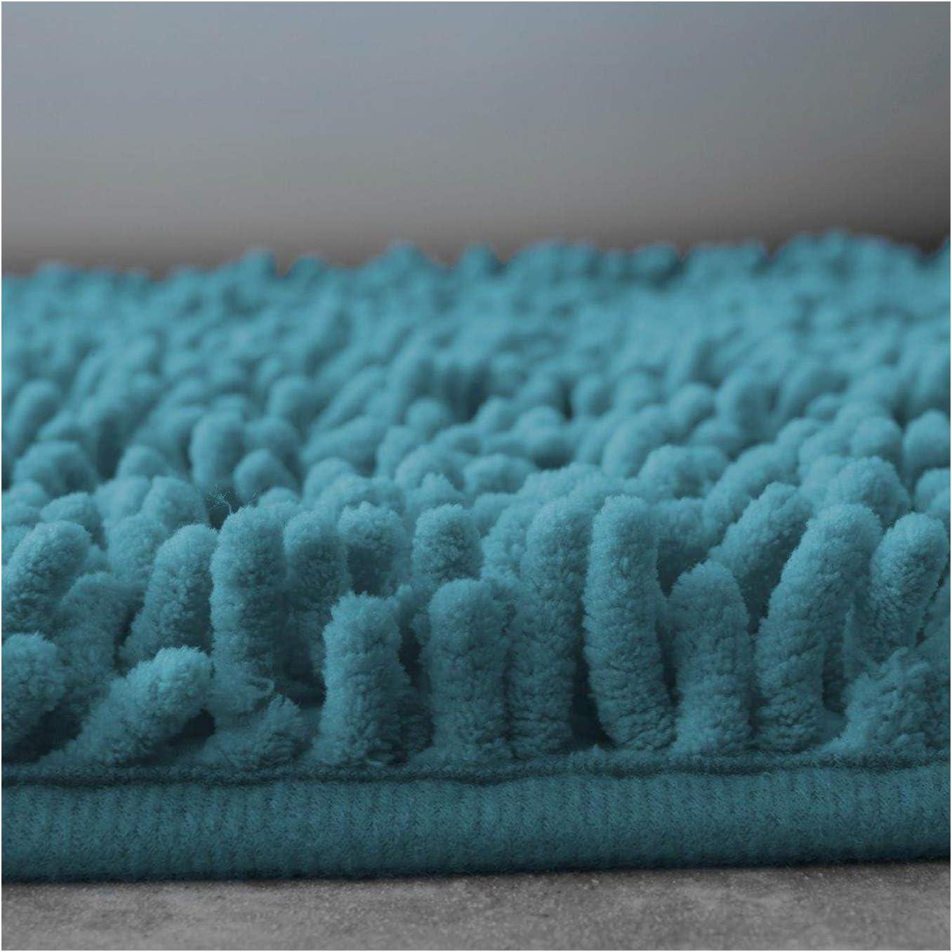 Non Slip Soft Chenille Bath Mats Slip Resistant Plush Bath Mats for Toilet Shower Bathroom Water Absorbent Shaggy Bath Rugs FAIRWAYUK 2 Piece Bathroom Rugs Set Natural