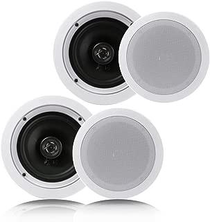"PAIR OF PDIC16106 Pyle 10/"" 300W Sound Around Surround Wall//Ceiling Home Speaker"