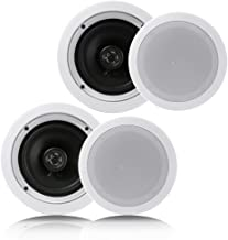 "Pyle Pair 6.5"" Flush Mount in-Wall in-Ceiling 2-Way Home Speaker System Spring Loaded.."