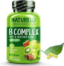 NATURELO B Complex - Whole Food - with Vitamin B6, Folate, B12, Biotin - Vegan - Vegetarian - Best Natural Supplement for ...