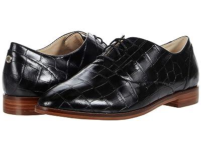 Cole Haan Modern Classics Oxford (Black Croc Print Leather/Dark Natural Os) Women