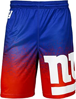 KLEW NFL Football 2016 Gradient Polyester Logo Training Shorts - Pick Team