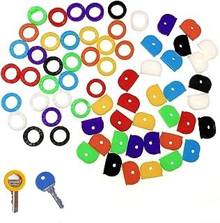 JZK Set 64 coprichiavi colorate gomma per identificare chiavi, coperchio chiave, cappuccio copri chiavi gomma per classifi...