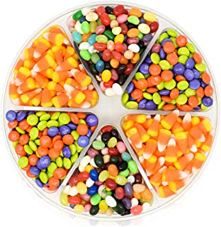Halloween Candy Gift Tray 2 LBS - with Brach's Candy Corn, Jelly Belly and m&ms