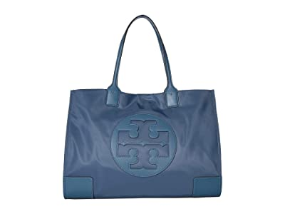 Tory Burch Ella Tote (Blue Yonder) Handbags