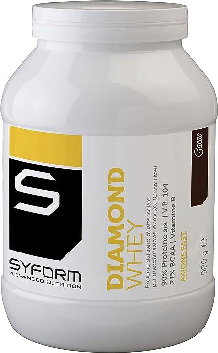 Whey protein syform diamond whey nuovo formato 900g gusto cacao B08LH98XYC