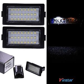 VINSTAR LED Kennzeichenbeleuchtung E geprüft 18 LEDs je Modul 6000 Kelvin kompatibel mit BMW E38 1995 2001 MIT CAN Bus