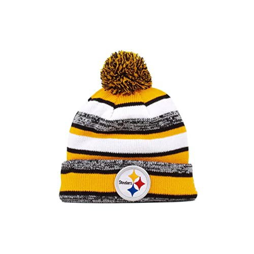 New Era On field Sport Knit Pittsburgh Steelers Game Hat Gold Black White  Size 44015bd4595c