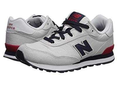 New Balance Kids 515v1 Canvas (Little Kid/Big Kid) (Nimbus Cloud/NB Navy) Boys Shoes