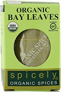 Spicely Organic Bay Leaves Turkish Whole 0.10 Ounce ecoBox Certified Gluten-Free