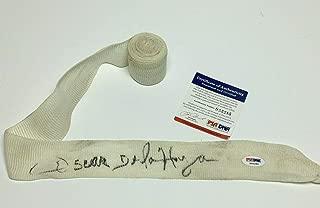 Oscar De La Hoya Signed Boxing Glove Wrist Wrap *Golden Boy S55285 - PSA/DNA Certified - Autographed Boxing Gloves