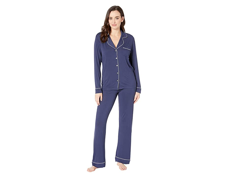 UGG Lenon Long Sleeve Sleep Set (Navy) Women