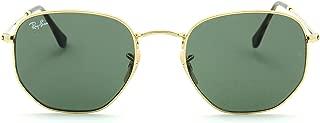 RB3548N Hexagonal Flat Lenses Unisex Sunglasses 001 - 51mm