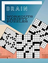 Brain Workouts Variety Puzzles: Relaxing Sunday Crosswords, Kid's Crossword Puzzle Book Hours of Fun for Ages and Up (Word Puzzles)