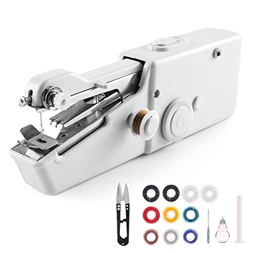 Handheld Sewing Machine, Portable Sewing Machine Mini Cordless Electric Stitch Tool for Fabric, Clothing