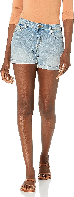 Amazon Brand - Daily Ritual Women's Denim Turn-Cuff Short