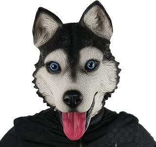 FantasyParty Novelty Halloween Costume Party Full Head Latex Dog Head Mask (Husky)