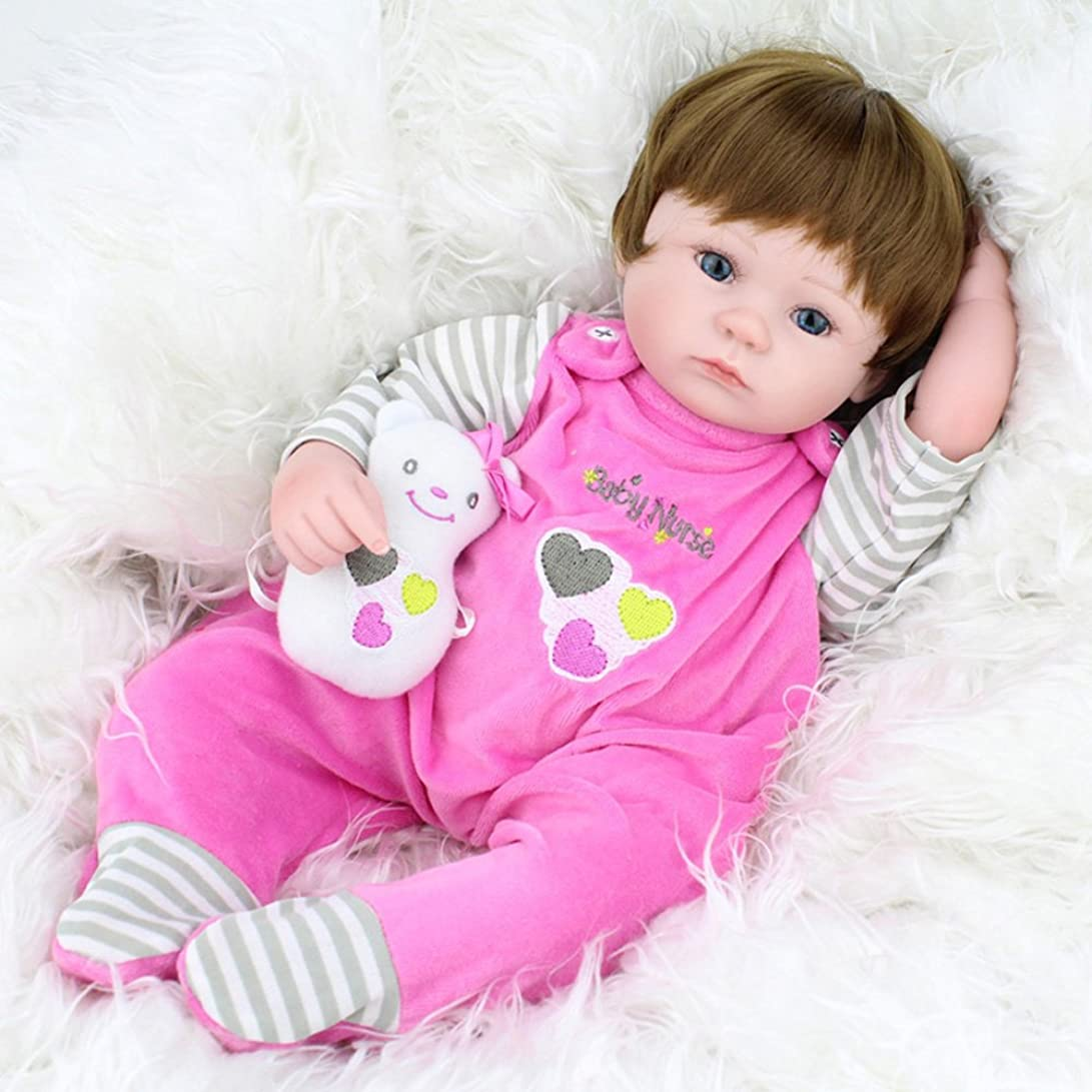 オプショナル悲しいジャニスHandmade LifelikeソフトビニールRebornベビー人形シリコンGrilsフルボディ人形おもちゃギフトEyes Open