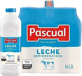 Pascual Leche Semidesnatada - Paquete de 6 x 1200 ml - Total: 7200 ml