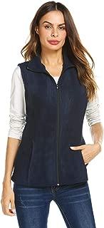 Grabsa Women's Casual Zip Up Sleeveless Polar Fleece Vest Lightwieght Outwear Vest