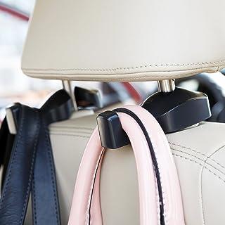 ChiTronic Car SUV Seat Back Headrest Hanger Hooks - Set of 2 (Black)